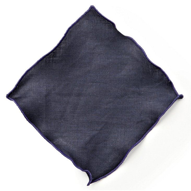 S/6 Park Ave Cocktail Napkins, Navy