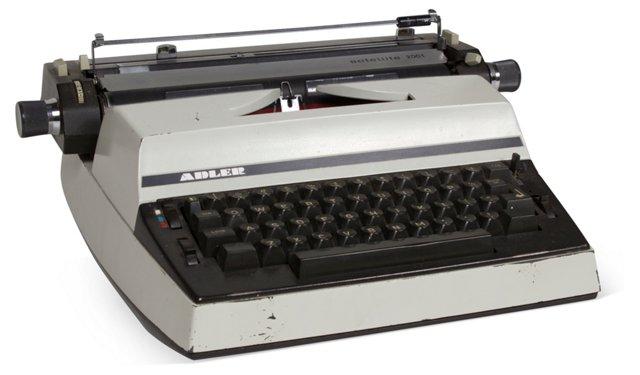 Vintage Typewriter, Light Gray