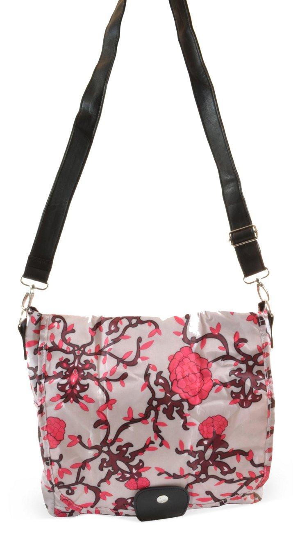 L.A. Messenger Bag, Lilac Vines