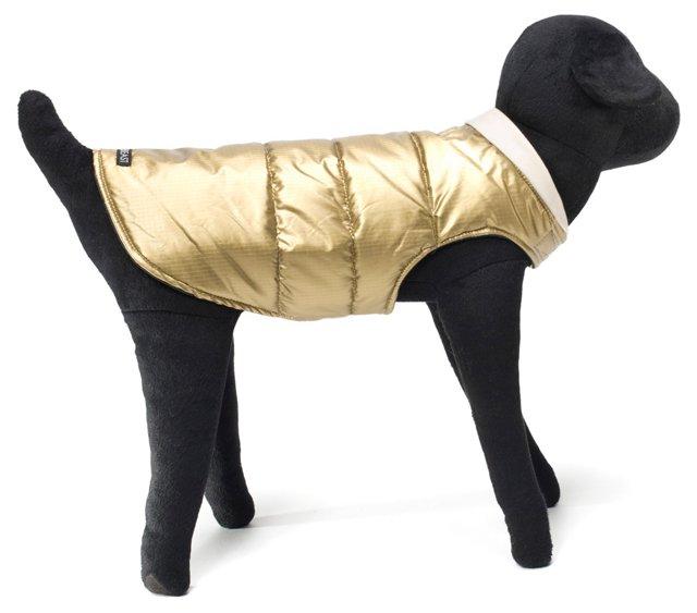 Snow Vest, Gold & Black