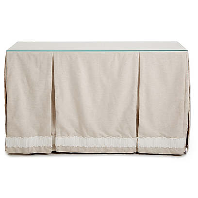 Eden Skirted Console, Oatmeal/White