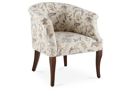 Selby Chair, Birch Floral