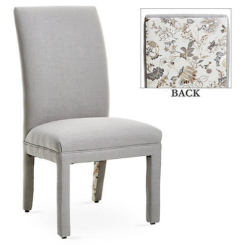 Monroe Side Chair, Ash/Birch Floral