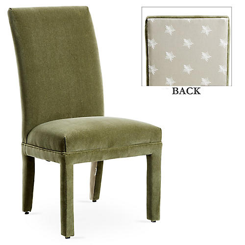 Monroe Side Chair, Moss/Khaki