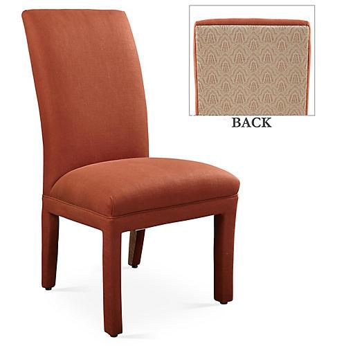 Monroe Side Chair, Rust/Copper