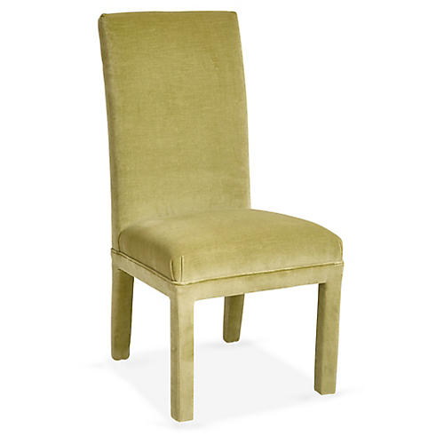 Monroe Side Chair, Wasabi Velvet
