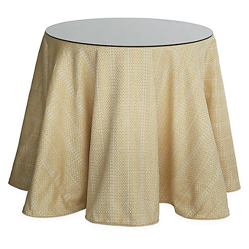 Eden Round Skirted Table, Marigold