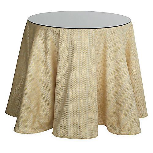 Eden Round Skirted Table, Marigold