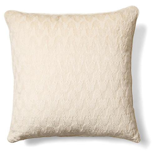 Dora 20x20 Pillow, Ivory Chenille