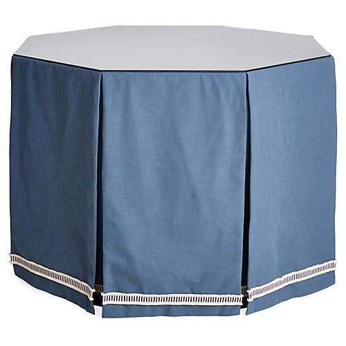 Eden Octagonal Skirted Table, Indigo