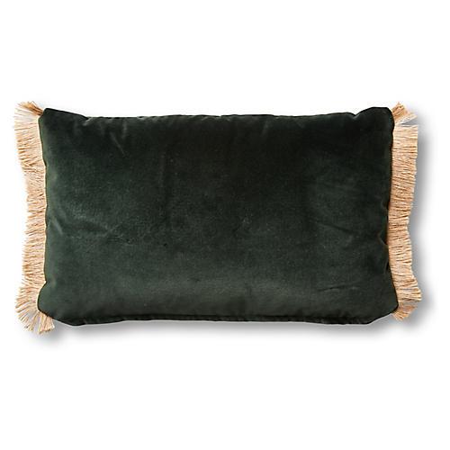 Celeste 12x20 Lumbar Pillow, Forest Velvet
