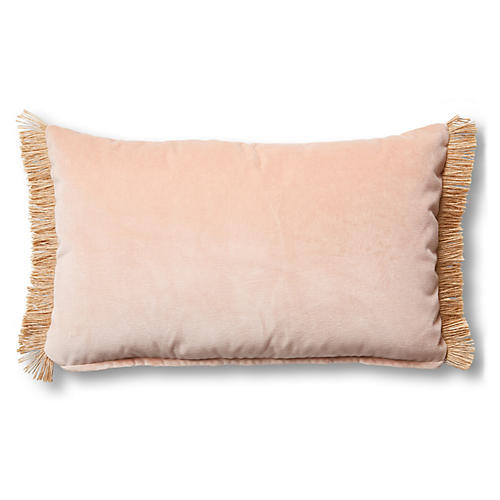 Celeste 12x20 Lumbar Pillow, Blush Velvet