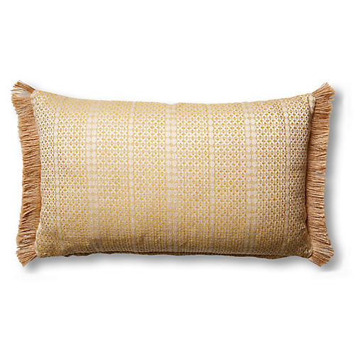 Basia 12x20 Lumbar Pillow, Soleil/Natural