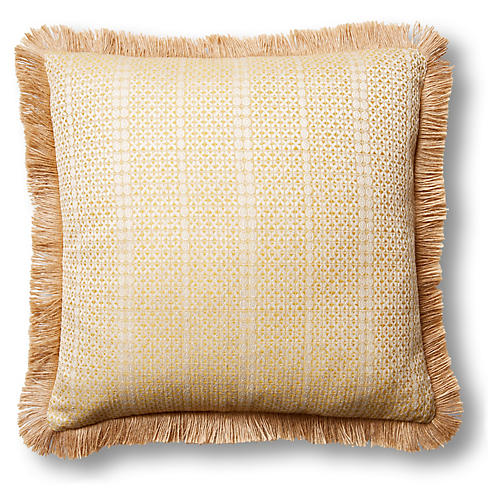 Basia 20x20 Pillow, Soleil/Natural