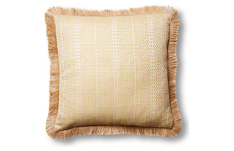 Basia 20x20 Pillow, Soleil/Natural