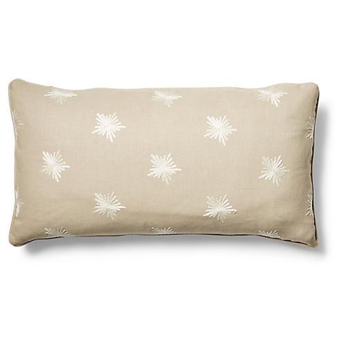 Maisie 12x23 Lumbar Pillow, Khaki/Ivory