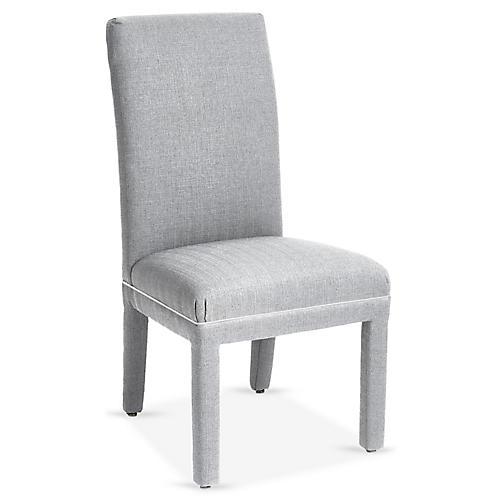 Monroe Side Chair, Gray Crypton