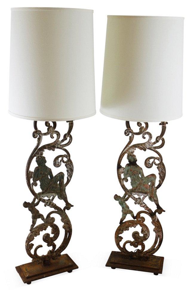 Balustrade Iron Lamps