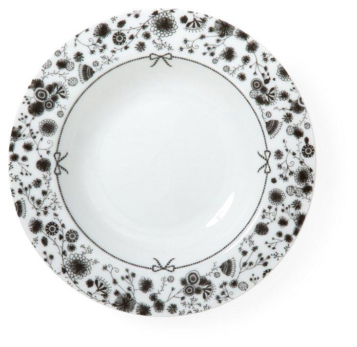 S/4 Porcelain Flower Soup Bowls
