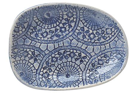 Salsa Plate, Blue Ferris