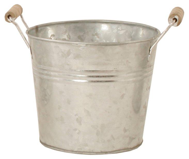 "S/6 7"" Galvanized Buckets"