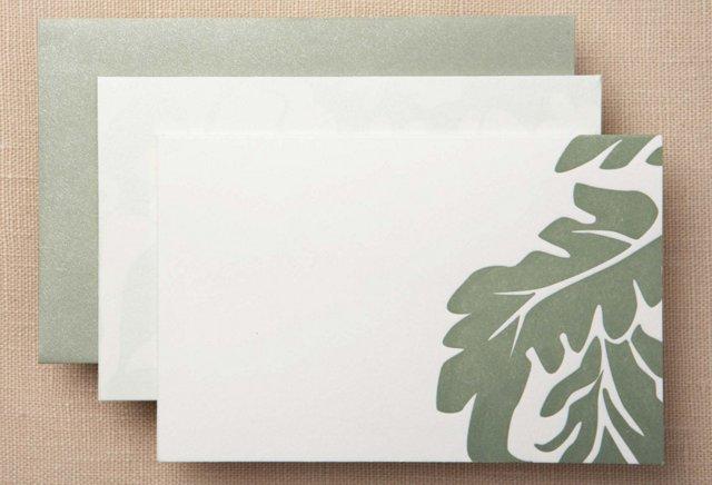 S/50 Vera Wang Note Cards, Green