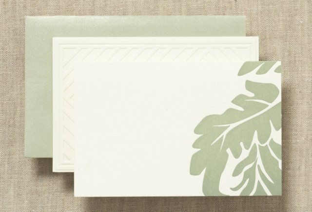 S/50 Vera Wang Note Cards, Leaf