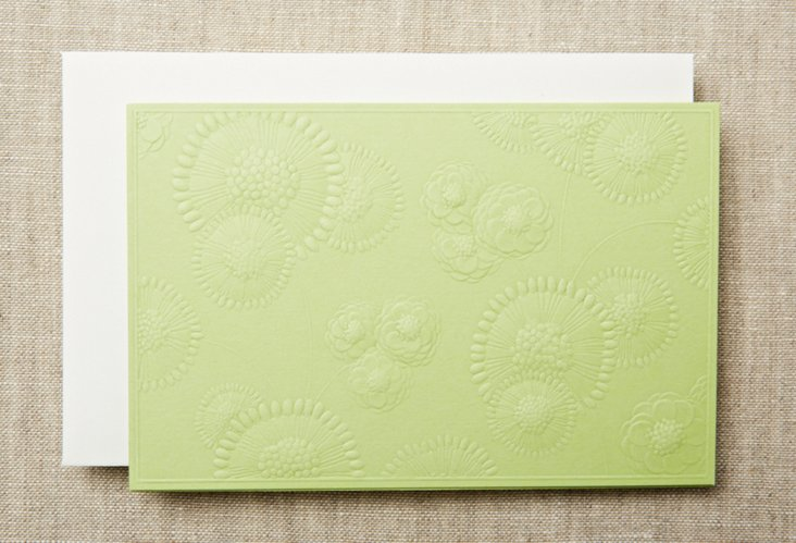 S/20 Embossed Flower Top-Fold Notes