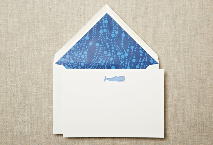 S/20 Engraved Whale Flat Cards