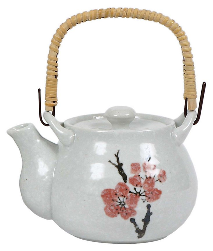 Cherry Plum Teapot