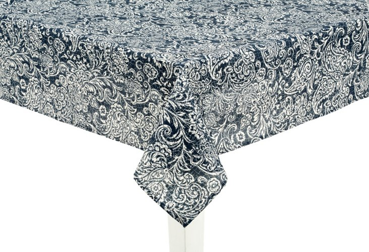 "Bonaire Indigo Tablecloth, 52"" x 70"""
