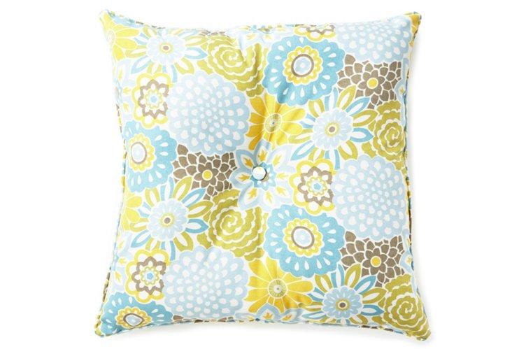 Button Blooms Meadow Euro Pillow