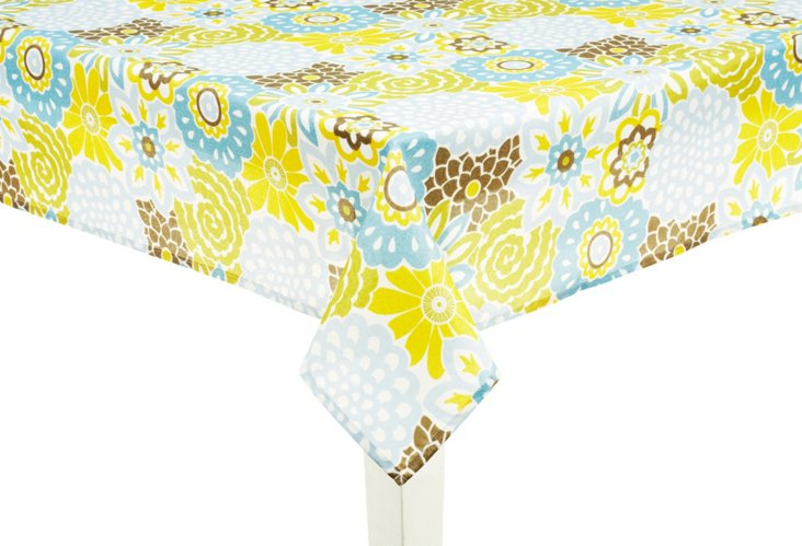Button Blooms Meadow Tablecloth, 52x70