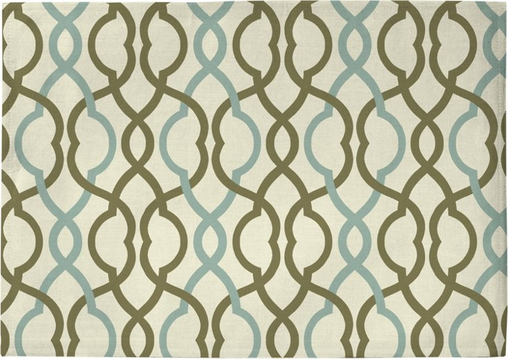S/4 Place Mats, Make Waves Mineral