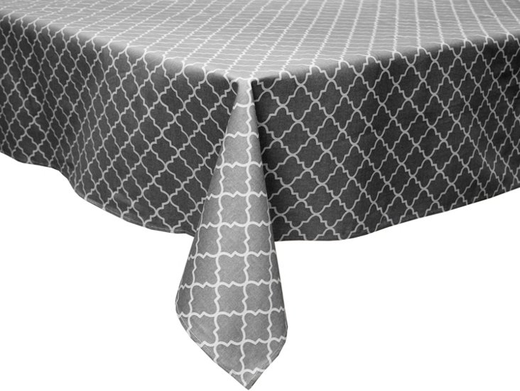 Buzzing About Charcoal Tablecloth