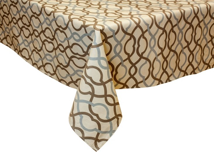 Make Waves Mineral Tablecloth