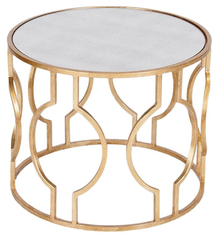 Lauri Side Table, Gold