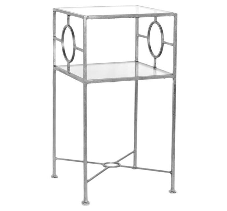 Michael Side Table, Silver