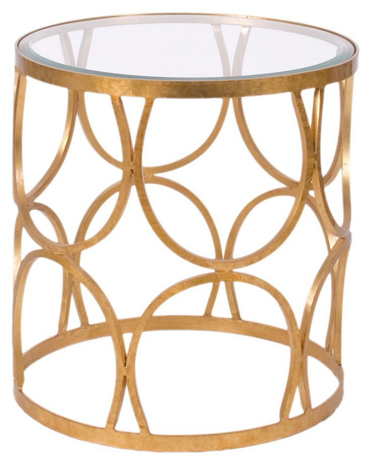 Grace Side Table, Gold