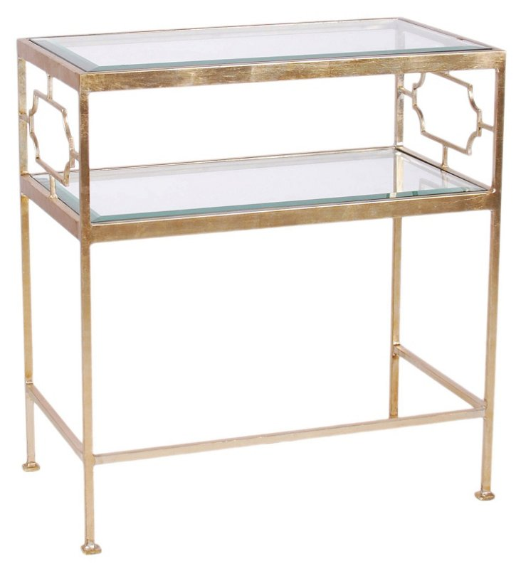 Jacques Side Table, Brushed Nickel