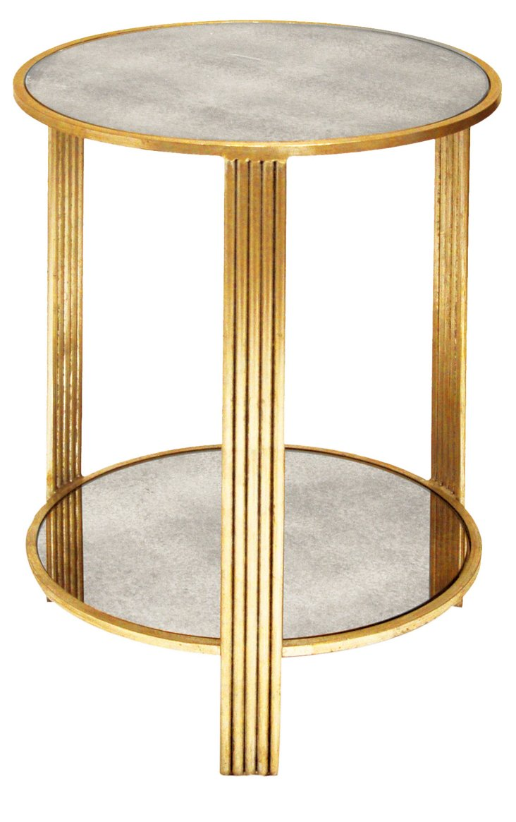 Celia Side Table, Gold