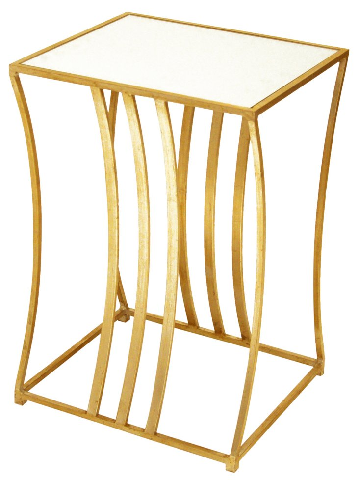 Luca Side Table, Gold