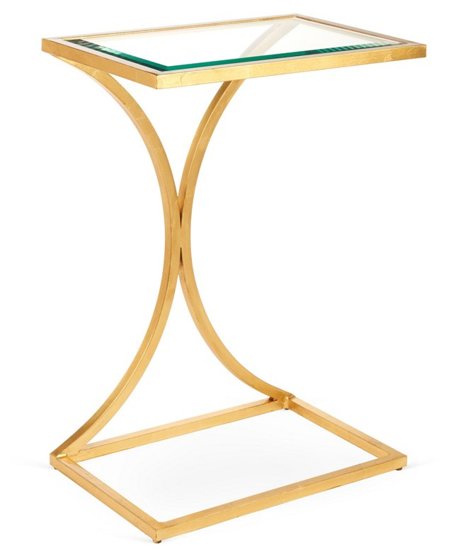 Connor Side Table, Gold