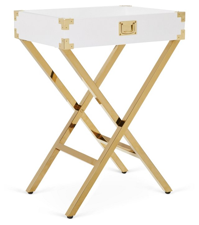 Hayward Tray Table, White
