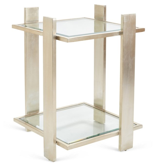Emerson Side Table, Silver