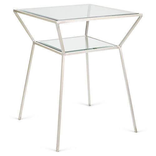 Wilford Side Table, Silver