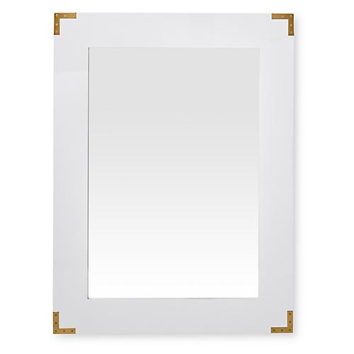 Campaign Mirror, White