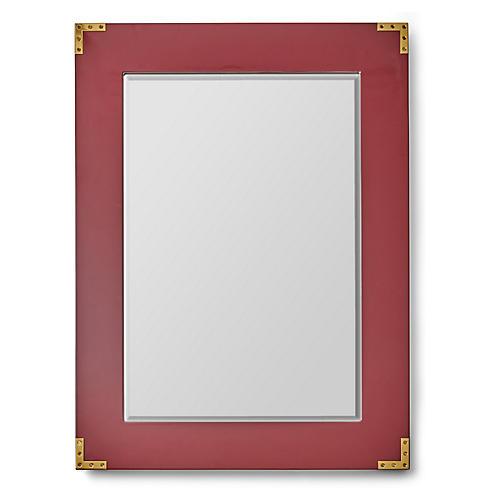 Lafayette Wall Mirror, Maroon