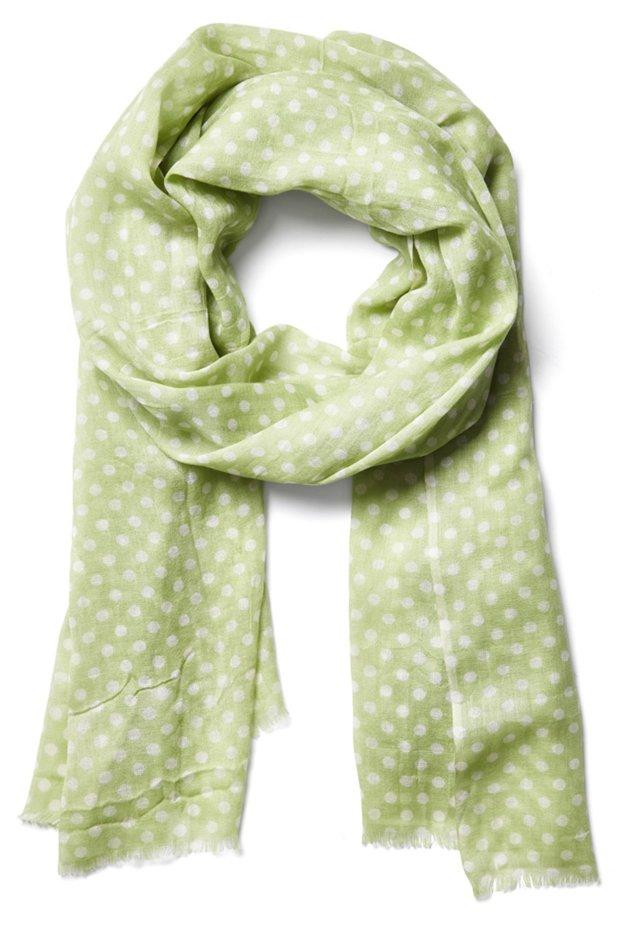 Polka Dot Scarf, Green