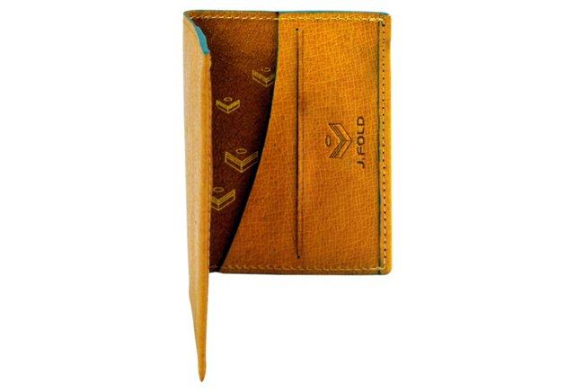 Folding Card Carrier, Tan